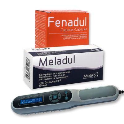 Pack de productos para el tratamiento del vitiligo